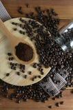 зажаренный в духовке кофе Стоковое фото RF