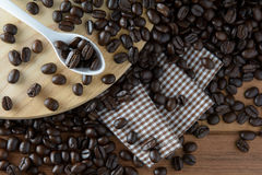 зажаренный в духовке кофе Стоковые Фото
