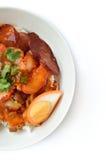 зажаренный в духовке рис свинины Стоковое Фото