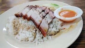 зажаренный в духовке рис свинины Стоковое фото RF
