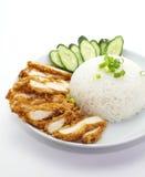 Зажаренный в духовке рис цыпленк цыпленка Стоковая Фотография RF