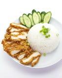 Зажаренный в духовке рис цыпленк цыпленка Стоковые Изображения RF