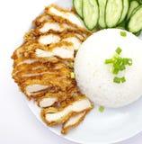 Зажаренный в духовке рис цыпленк цыпленка Стоковая Фотография