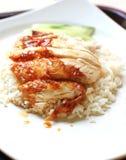 Зажаренный в духовке рис цыпленк цыпленка Стоковое Фото