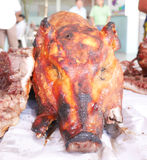 Зажаренный в духовке свинина в Таиланде Стоковая Фотография