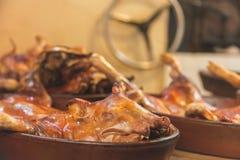 зажаренный в духовке свинина Стоковое Изображение RF
