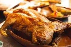 зажаренный в духовке свинина Стоковое Изображение