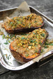 Зажаренный в духовке сквош butternut Стоковое Фото