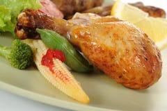 Зажаренный в духовке Drumstick цыпленк цыпленка Стоковое Изображение RF