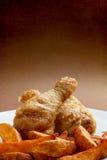 Зажаренный в духовке drumstick цыпленк цыпленка Стоковое Изображение