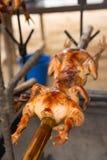 Зажаренный, гриль, цыпленок Стоковые Изображения RF