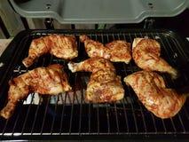 Зажаренный дом BBQ сделал цыпленка Стоковая Фотография RF