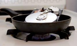 Зажаренный жесткий диск стоковые фотографии rf
