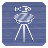 Зажаренный значок рыб Стоковая Фотография RF