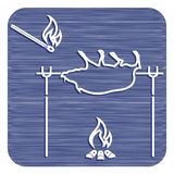 Зажаренный значок хряка Стоковая Фотография RF
