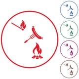 Зажаренный значок sausager Стоковое Изображение