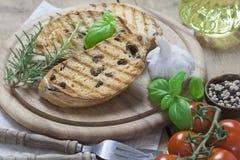 Зажаренный итальянский хлеб ciabatta Стоковое Изображение RF