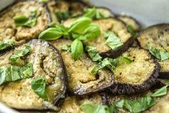 Зажаренный и сваренный aubergine Стоковое Изображение