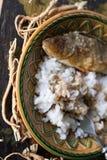 Зажаренный окунь с рисом стоковое фото rf