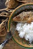Зажаренный окунь с рисом Стоковые Фотографии RF