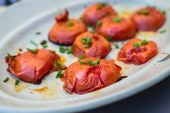 Зажаренный отрезок половин томата Стоковые Фотографии RF