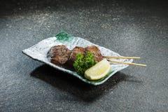 Зажаренный протыкальник говядины, свинины, цыпленка или овощей Стоковые Изображения