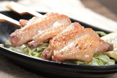 Зажаренный протыкальник говядины, свинины, цыпленка или овощей Стоковое Изображение RF