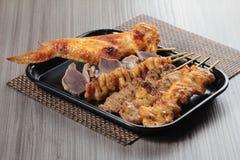 Зажаренный протыкальник говядины, свинины, цыпленка или овощей Стоковые Изображения RF