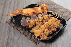 Зажаренный протыкальник говядины, свинины, цыпленка или овощей Стоковое Фото