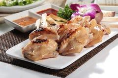Зажаренный протыкальник говядины, свинины, цыпленка или овощей Стоковые Фото