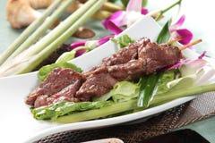 Зажаренный протыкальник говядины, свинины, цыпленка или овощей Стоковая Фотография