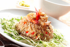 зажаренный рис Индонесии Стоковая Фотография