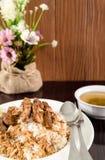 зажаренный рис свинины Стоковое Фото