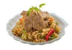 зажаренный рис свинины Стоковая Фотография RF