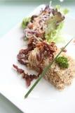 зажаренный рис свинины Стоковые Фото