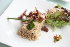 зажаренный рис свинины Стоковая Фотография