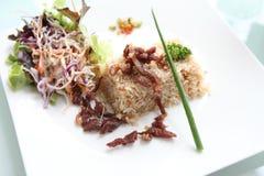 зажаренный рис свинины Стоковое фото RF