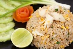 Зажаренный рис с раком Стоковые Фото