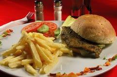 зажаренный сандвич мяса Стоковые Изображения RF