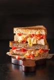 Зажаренный сандвич сыра с ветчиной и томатом Стоковые Фотографии RF