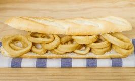 Зажаренный сандвич Calamari Стоковое Изображение