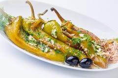 Зажаренный салат зеленых перцев Стоковые Изображения