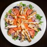 Зажаренный салат из курицы на плите Стоковая Фотография RF
