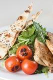 Зажаренный салат из курицы с chapati Стоковые Фото