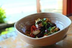 Зажаренный салат осьминога Стоковое Изображение