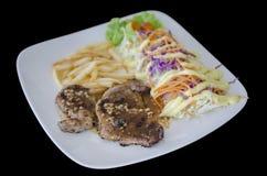 Зажаренный салат стейка и овоща Стоковая Фотография RF