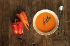 Зажаренный суп перца Стоковые Фотографии RF