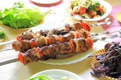 зажаренный томат лука мяса Стоковое Изображение