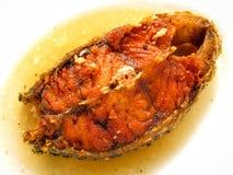 Зажаренный луциан с соусом рыб Стоковые Фото