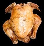 Зажаренный цыпленок на черной предпосылке Стоковое Изображение